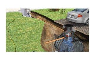 Graf Carat Regenwassertank mit Zubehör Komplettpaket Haus-Silentio Press befahrbar