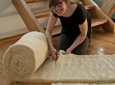 Woolin Dämmbahnen 100% Schafwolle Verarbeitung