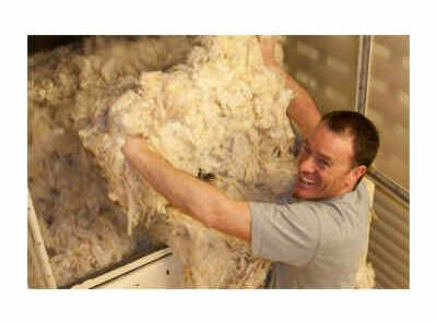 Woolin Flockenwolle 100% natürliche Schafwolle Herstellung
